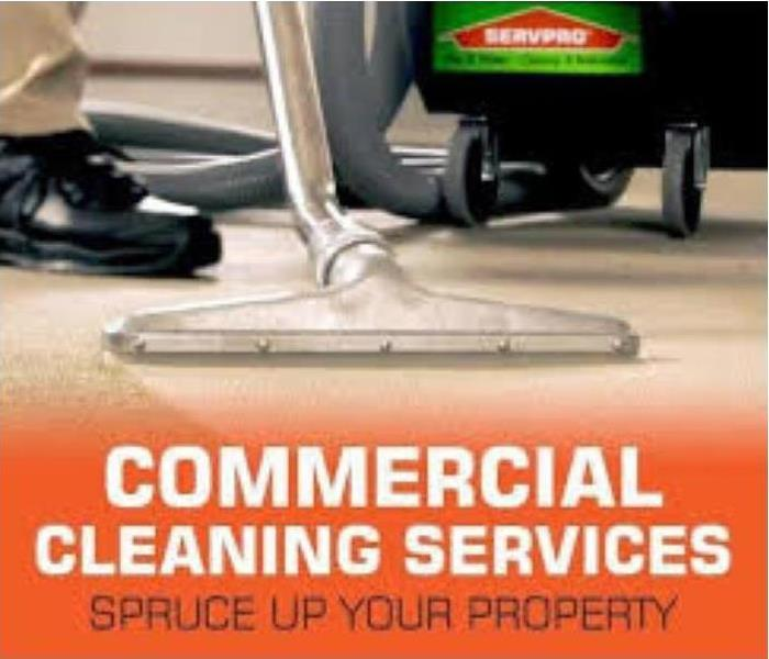 A picture of commercial cleaning