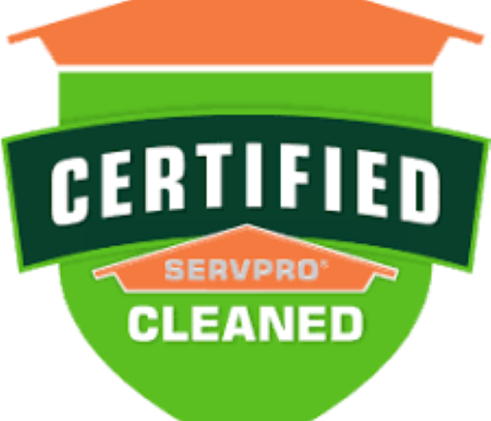 A picture of the Certified: SERVPRO Cleaned logo